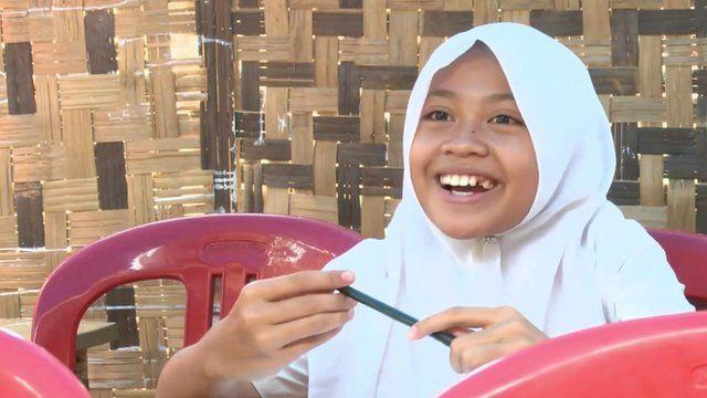 Indonesian school girl