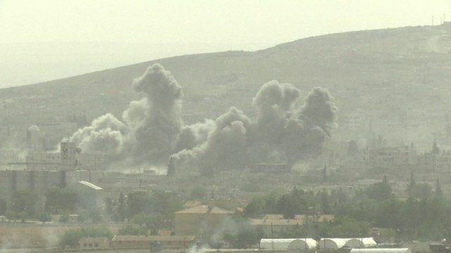 Smoke over Kobane