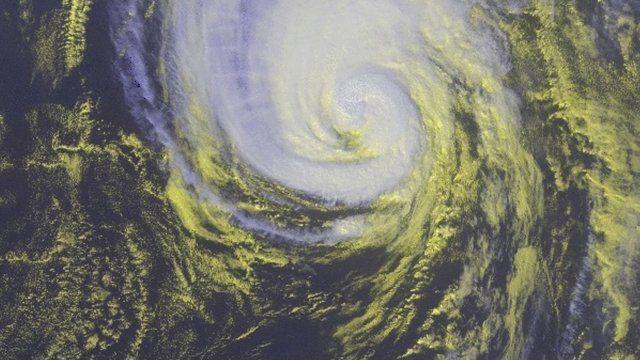 Hurricane Gonzalo satellite image