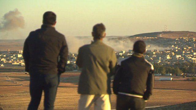 Kurds near Kobane