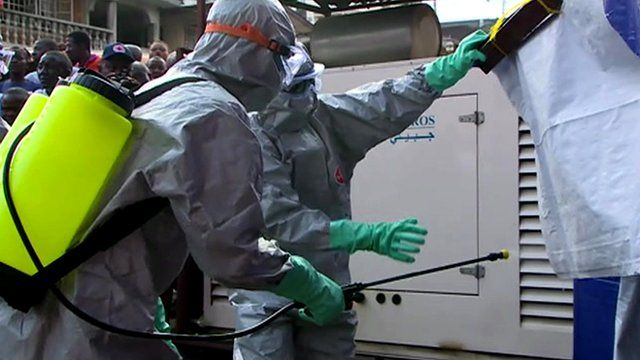 Training on carrying out a safe Ebola burial in Sierra Leone