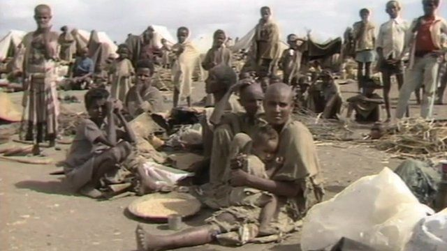 People during famine in Ethiopia