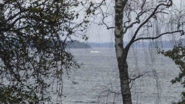 Amateur photo shows an object in the sea near Stockholm.