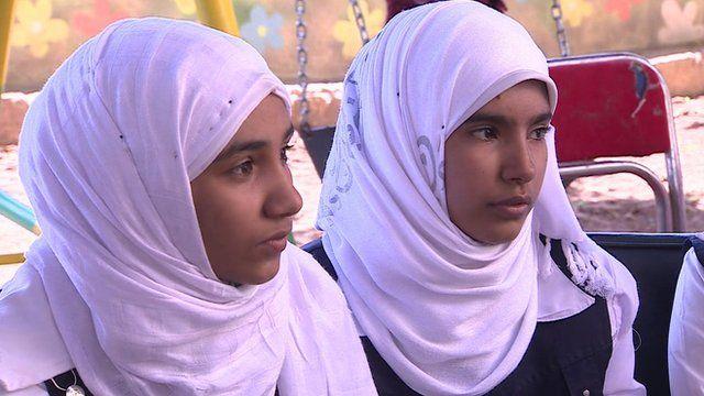 Teenage girls in Egypt