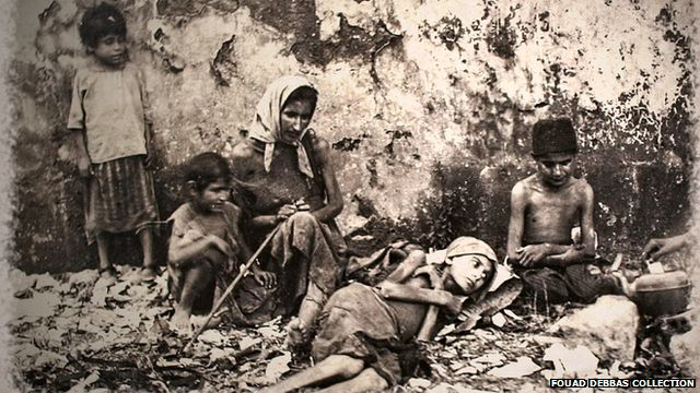 Starving children. Photo courtesy of Fouad Debbas Collection
