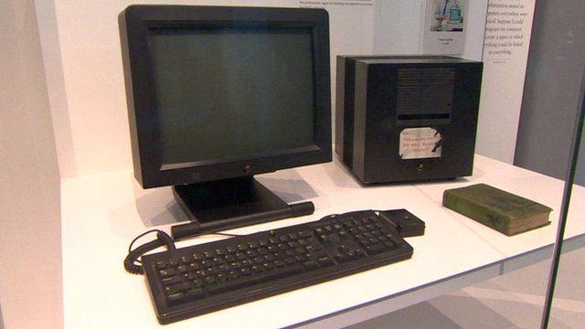 Sir Tim Berners-Lee's NeXT computer, which hosted the first website.