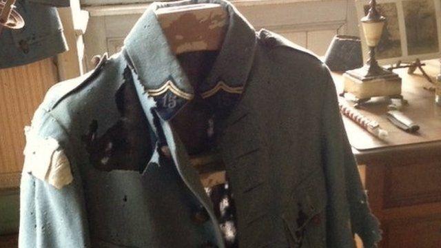 Tattered jacket