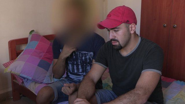 Two gay Syrian refugees