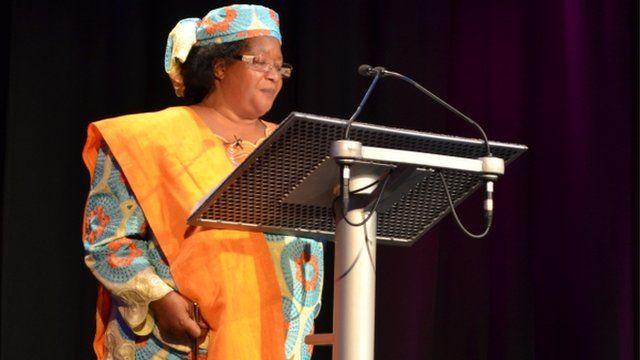 Former Malawi president Joyce Banda