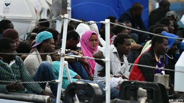 Migrants from northern Africa have been rescued by crews in Italy as part of an operation now being wound down