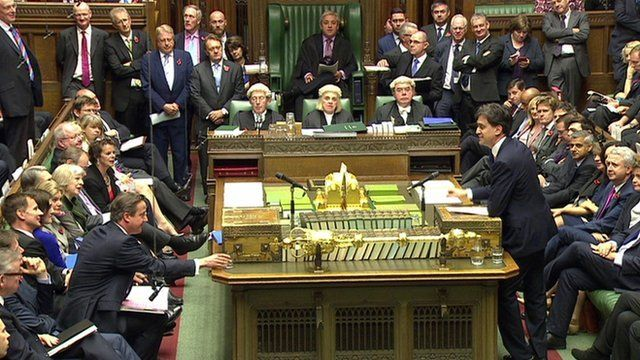 Front benches at PMQs