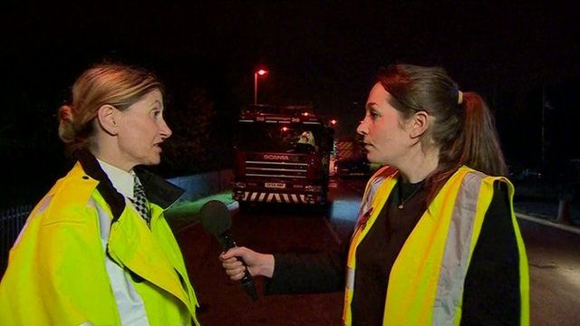 Chief Inspector Jane Hewitt and the BBC's Frankie Mccamley