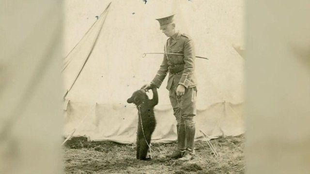 Cpt Harry Colebourn and the original Winnie the Pooh