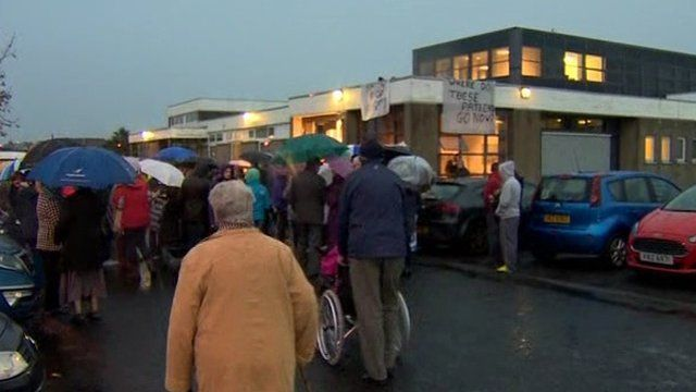 A protest was held over the closure of Dalriada Hospital after it was announced the centre was to close