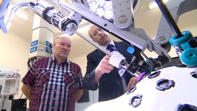 The robot will be used for colon, womb and prostate surgery at Leicester General Hospital.