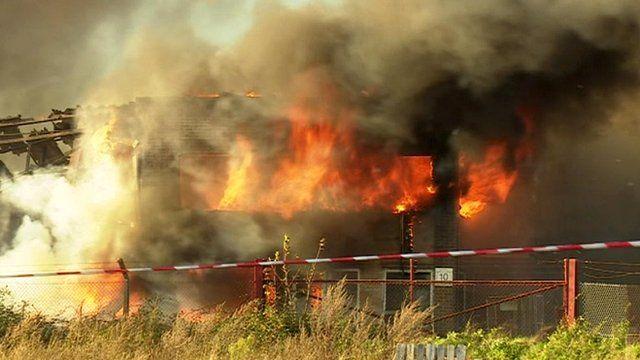 Fire at North Pickenham warehouse