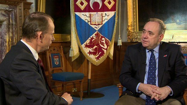 Andrew Marr and Alex Salmond MSP, First Minister of Scotland
