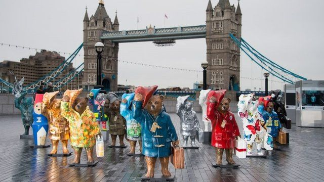 Some of the Paddington statues
