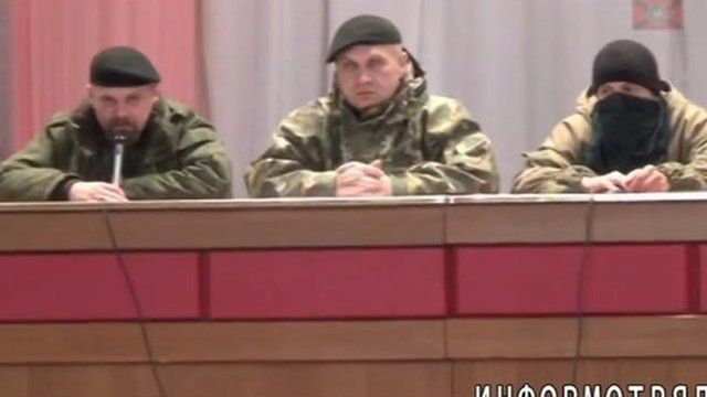 'Trial' in Alchevsk, eastern Ukraine, 25 October - video posted by the Prizrak battalion