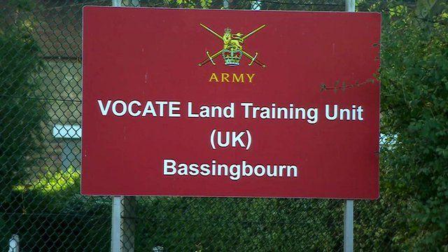 Bassingbourn Barracks sign