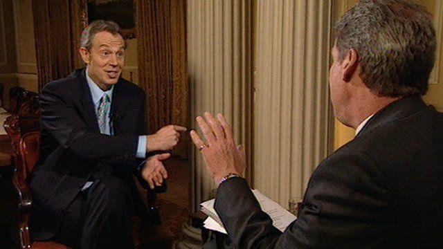 Jeremy Paxman interviews Tony Blair