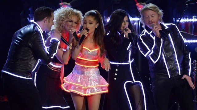 Ariana Grande (c) and Little Big Town