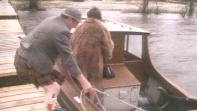 Mr and Mrs MacDonald set off from the island of Inchfad to vote in the general election of February 1974