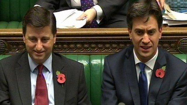 Douglas Alexander and Ed Miliband