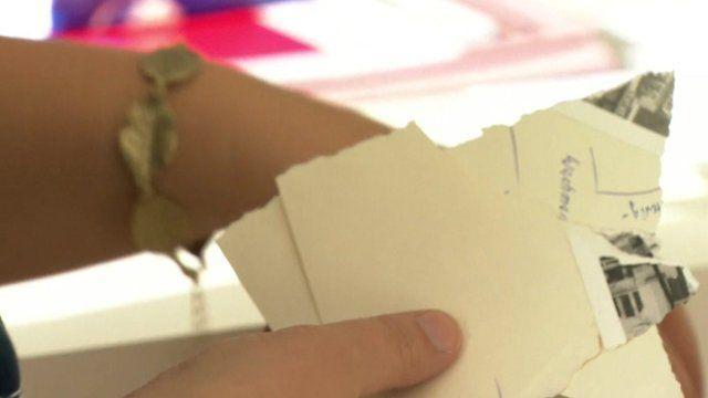 Shredded document