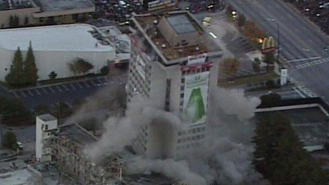 Building collapses in Atlanta