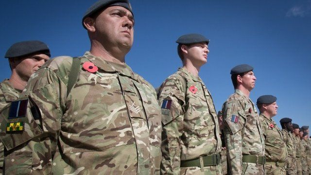Troops in Afghanistan on Remembrance Sunday