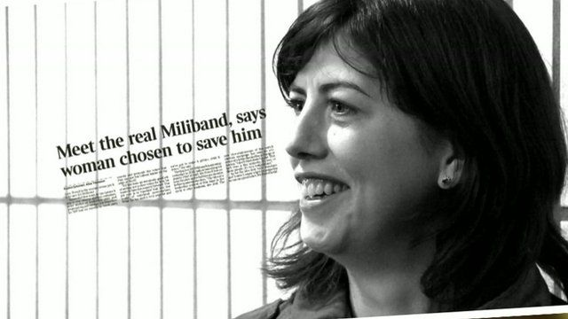 Lucy Powell with graphic
