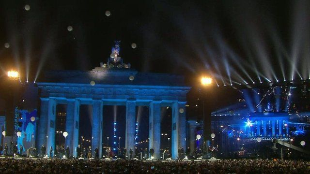 Balloons released in Berlin