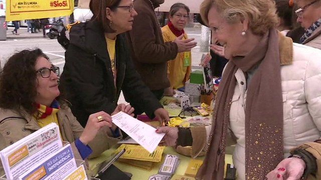 Woman with polling card