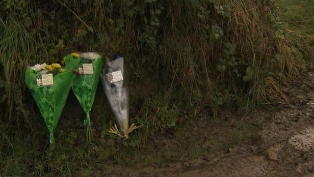 Flowers were laid close to where the body was discovered