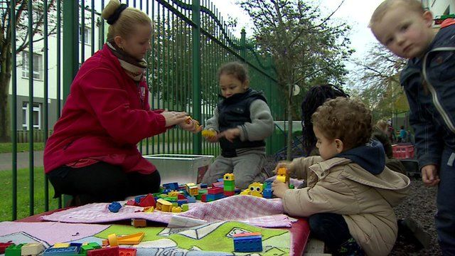 Children play at the Charlton Family Centre