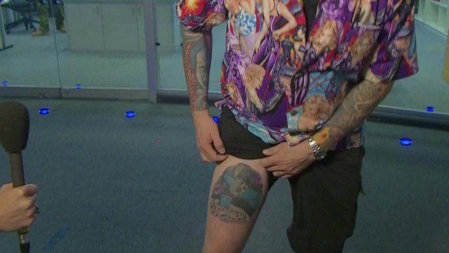 Matt Taylor's tattoos