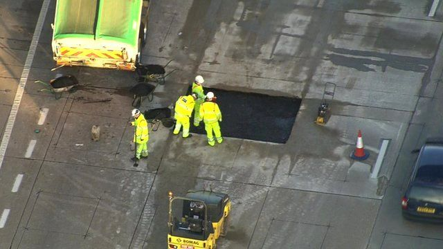 Maintenance teams have been called in to repair the road