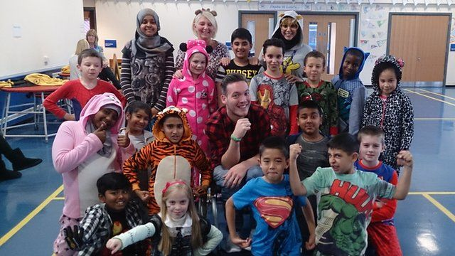 Kids dress up for children in need
