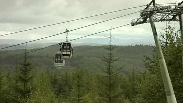Artist's impression of Lake District cable car