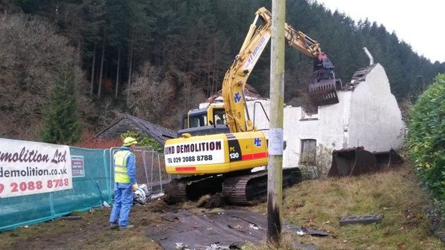 Mark Bridger house demolished