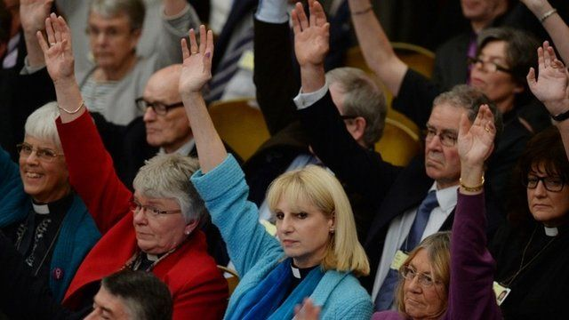 Show of hands in the Anglican General Synod