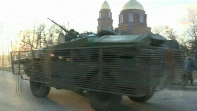An armoured car on the street