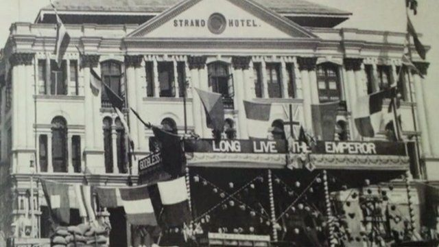 Black and white image of Yangon