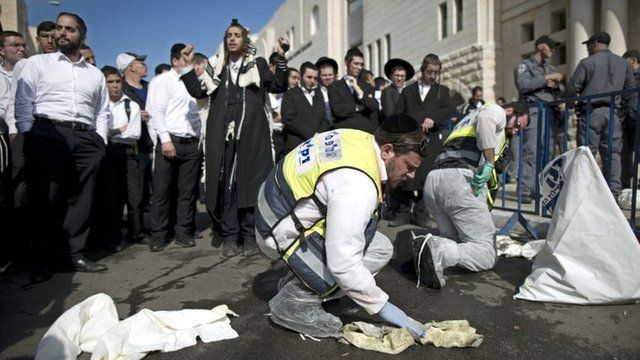 Aftermath of attack on synagogue