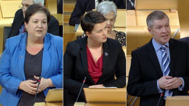 Jackie Baillie, Ruth Davidson and Willie Rennie