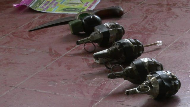 Weapons seized from mosque