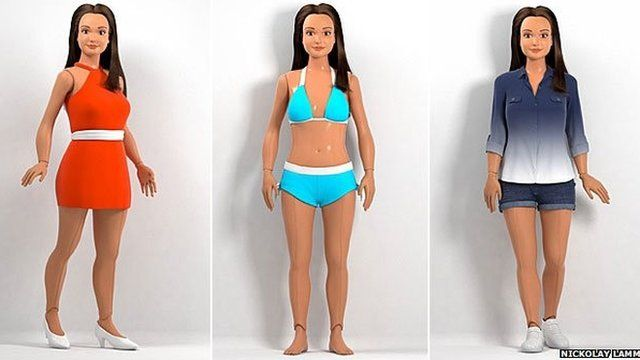 Lammily, a Barbie-like doll based on the vital statistics of an average 19-year-old American woman