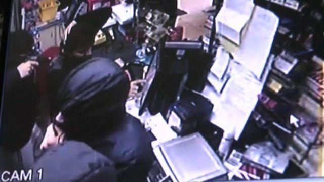 Derby armed robbery CCTV