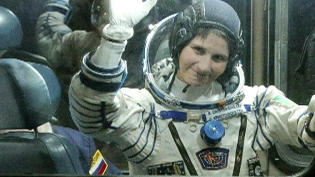 Samantha Cristoforetti is a captain in the Italian air force and was selected to be an astronaut by the European Space Agency in 2009.